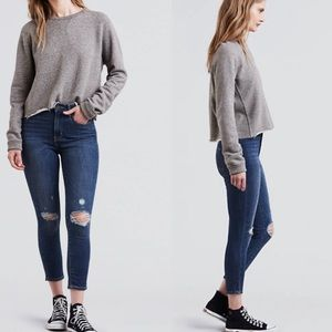 Levi's 721 high rise ankle skinny jeans NWT